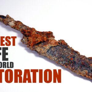 Antique Rusty Knife Restoration