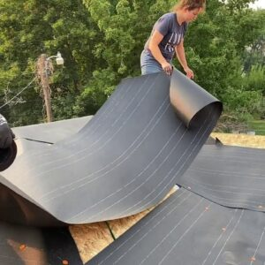 Farmhouse Remodel Tar Paper On The Roof!