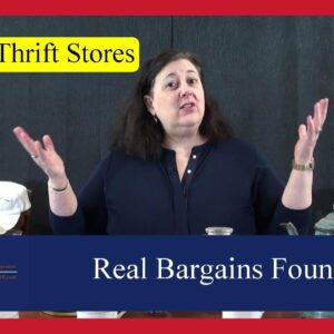 Real Bargains Found at Goodwill Thrift Shops, Yard Sales & Estate Sale Hauls by Dr. Lori