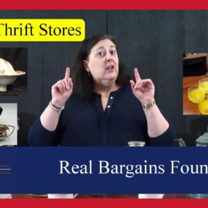 Real Bargains Found in the Trash, Goodwill Hauls, Auctions and Thrift Shops by Dr. Lori