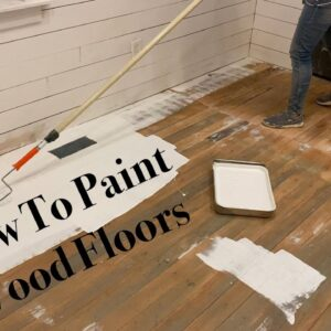 How To Paint Wood Floors + Tile Stencil Hearth