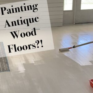 How To Paint Wood Floors White and Seal Them