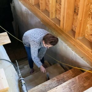 Jami Builds Stairs In Our Home Addition