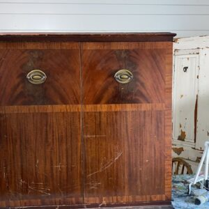 Old Radio Cabinet Makeover  WNW