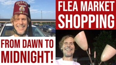 THRIFT SHOPPING DAY & NIGHT!   FLEA MARKET ESTATE SALE BARGAINS