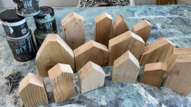 Wood Block Houses From Scraps