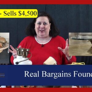 Real Bargains Found at Goodwill Haul, Online Estate Auction, Thrift Shops and Yard Sale Shopping