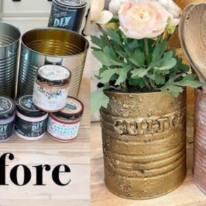 Trash To Treasure #10 Tin Can Utensil Organizer