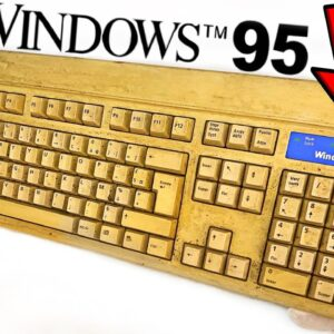 Yellowed Keyboard Restoration - Windows 95 Retrobright