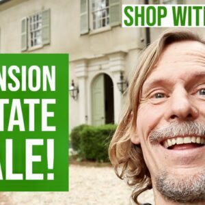 WHAT I FOUND AT THE MANSION! | ESTATE SALE SHOP WITH ME