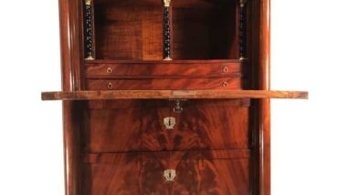 where royals wrote the antique secretary desk in focus