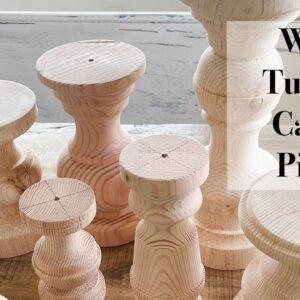 Wood Turning Candle Pillars #shorts