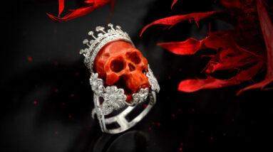 madonnas jewellery designer diamond crown skull ring set to make thousands at auction