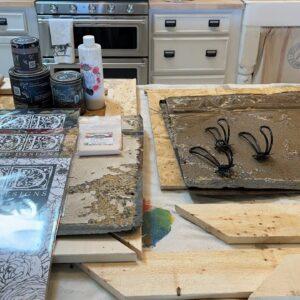 Antique Ceiling Tile Coat Hook DIY