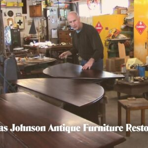 Finishing an early 18th c. Drop-leaf Dining Table - Thomas Johnson Antique Furniture Restoration