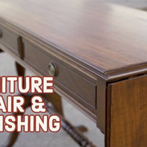 Thrift Store Rescue #20 | Repairing and Refinishing A Vintage Table | Furniture Restoration
