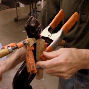 Repairing the Leg of a Tilt Top Table - Thomas Johnson Antique Furniture Restoration