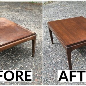 Thrift Store Rescue #17 | Refinishing A Mid Century Lane Table | Furniture Restoration