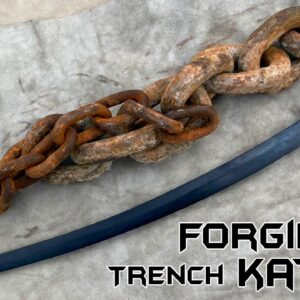 Forging a Trench KATANA out of Rusted Iron CHAIN