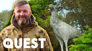 Making A Scottish Stag Sculpture Out Of Steel Rebar | Scrap Kings