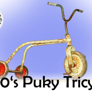 """Passing on Childhood Memories - Restoration of 60's """"Puky"""" Tricycle"""