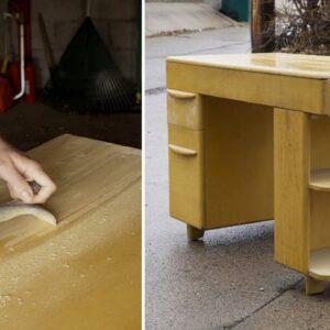 Refinishing A Mid Century Heywood Wakefield Desk | Furniture Refinishing