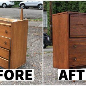 Refinishing A Vintage Dresser | Furniture Restoration