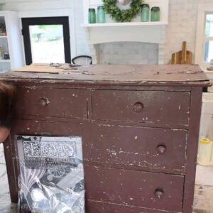 Repairing Veneer On A Dresser Waste Not Wednesday