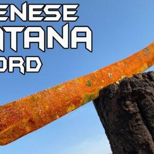 Rusted Japanese KATANA SWORD (kind of) - BEST RESTORATION