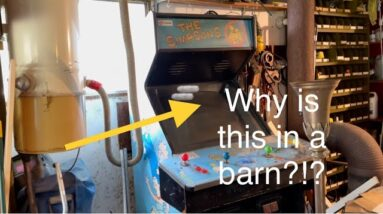 Searching barns for treasure! A rare Simpsons arcade game and more!