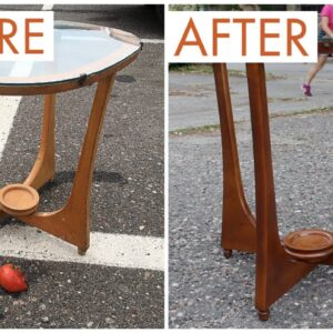 Thrift Store Rescue #18 | Refinishing A Thrift Store Table | Furniture Restoration