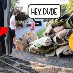THIS GUY SAW ME TAKING HIS TRASH! Trash Picking Ep. 472