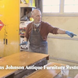 Staining a Turn of the Century Table - Thomas Johnson Antique Furniture Restoration