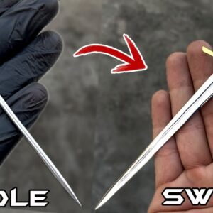 Turning a Sewing NEEDLE into a Beautiful Little SWORD