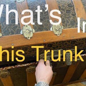 What's in the trunk?!? estate unboxing video, what treasures will there be?!?