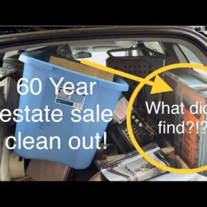 60 years of Stuff! Estate Garage clear out! what did we find?!