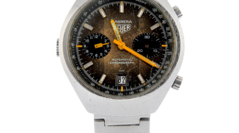 heuer watch found in bag of broken watches fetches over 1300