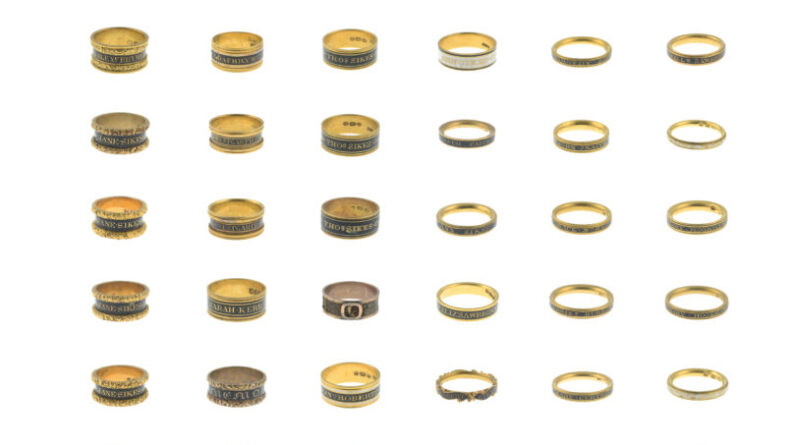 mourning ring collection spanning over 100 years could sell for 20000 at fellows