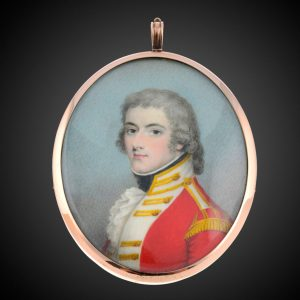 portrait miniature of 74th regiment of foot officer